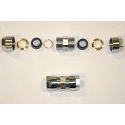 Racor doble para unión de tubos.