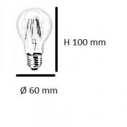 Bombilla Led filamento 2W 160lm 360º IP20 E27 - Imagen 2