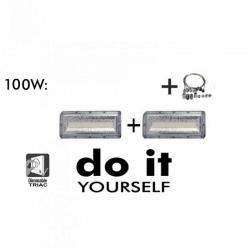 Campana DIY 100W 120º 3000K SMD 3030 -3D-