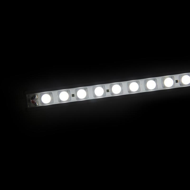Tira Led Rígida con Lentes 45º 36 LEDs SMD5050 8,6W 24VDC 720Lm IP65 600mm - Imagen 1