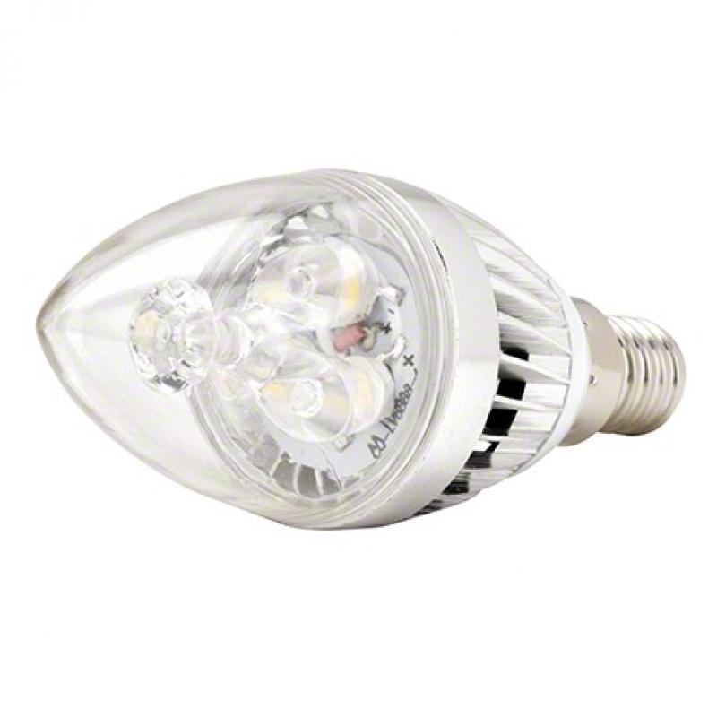 Lámpara Bombilla Led Vela Cuerpo Plateado E14 3W 240Lm 30.000H - Imagen 1