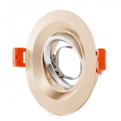 Aro Downlight Circular Aluminio Color Dorado 100mm