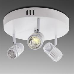 Aplique-Plafón LED 3 Luces Blanco 9W COB 2430Lm Color
