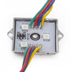 Módulo de 3 LEDs Aluminio SMD5050 0,72W RGB - Imagen 1