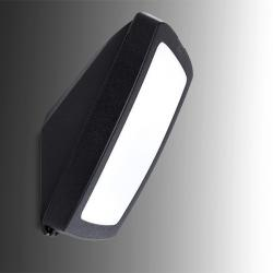 Aplique para Exterior Fumagalli GERMANA E27 Negro Difusor Opal - Imagen 1