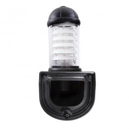 Aplique para Exterior Fumagalli MIRELLA E27 Negro Difusor Opal Rejilla Blanca - Imagen 2
