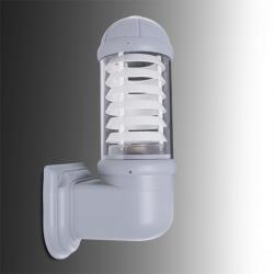 Aplique para Exterior Fumagalli MIRELLA E27 Gris Difusor Opal Rejilla Blanca - Imagen 1