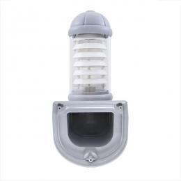 Aplique para Exterior Fumagalli MIRELLA E27 Gris Difusor Opal Rejilla Blanca - Imagen 2
