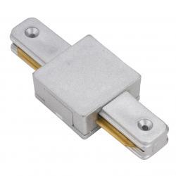 Conector Recto para Carril Focos Led Color Aluminio - Imagen 1