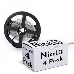 PACK DE 4 TIRAS DE 300 LEDS SMD5050 12VDC