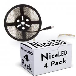 PACK DE 4 TIRAS DE 300 LEDS SMD5050 12VDC IP65