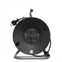 Enrollador Plástico sin Tapa BACHMANN, Cable: H05VV-F 3G 1.50mm² 50 Metros