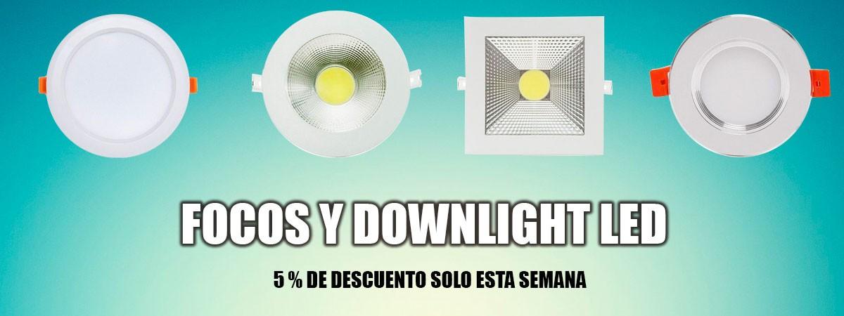 5% en dOWNLIGHT LED Y FOCOS